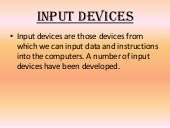 Presentation on input devices...