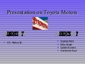 Presentation on toyota_motors[1]
