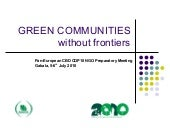GREEN COMMUNITIES without frontiers