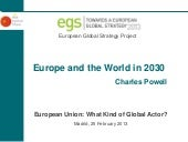Europe and the World in 2030