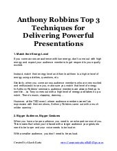 Presentation secrets of anthony rob...