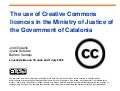 The Use of Creative Commons Licences in the Ministry of Justice of the Government of Catalonia