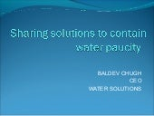 Presentation water solutions