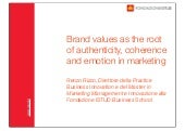 Brand values as the root of authent...