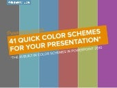 41 Quick Color Themes for Your Presentation