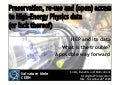 Preservation And Reuse In High Energy Physics Salvatore Mele