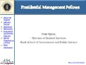Presidential management fellows