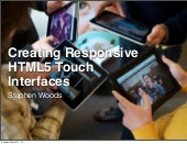 HTML5 Touch Interfaces: SXSW extend...