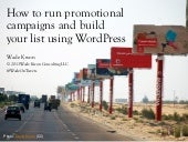How to run promotional campaigns and build your list using WordPress