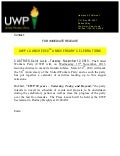 Press release   uwp launches 50 th anniversary celebrations