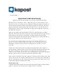 Kapost Press Release Jan. 2012
