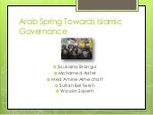 Arab Spring Towards Islamic Governance