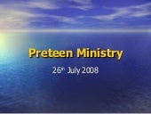 Preteen ministry launch 2008