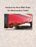Prevent Car Rust With These Car Maintenance Tricks!
