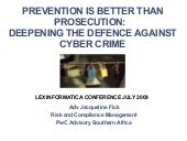 Prevention Is Better Than Prosecuti...
