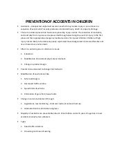 Prevention of accidents in children