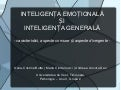 Inteligenta emotionala si Inteligenta Generala