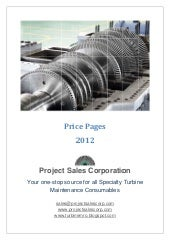 Price Pages 2012 Project Sales Corp