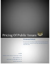Pricing of public issues in India