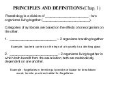 Principles And  Definitions