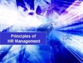 Principles of hr management
