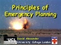 Principles Of Emergency Planning