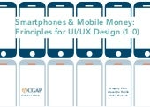 Smartphones & Mobile Money: Principles for UI/UX Design (1.0)