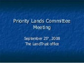 Priority Lands September 25 2008