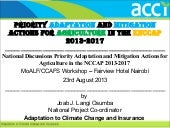 Priority adaptation and mitigation ...