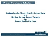 Priority populations calculator part 1