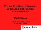 Privacy Breaches In Canada Lsuc It....