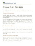 Privacy Policy Template