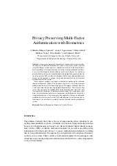 (2007) Privacy Preserving Multi-Fac...