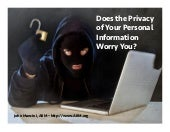 Does the Privacy of Your Personal Information Worry You?