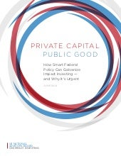 Private Capital Public Good
