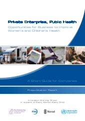 Private Enterprise, Public Health: ...