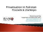 Privatisation in Pakistan-Challenge...