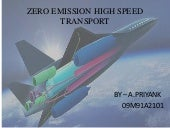 Zero Emission High Speed Transport