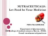 Nutraceuticals by Priyanka Khokhar