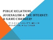 Public Relations, Journalism & the ...