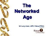 PR Networked Age  Big Lecture Fall ...