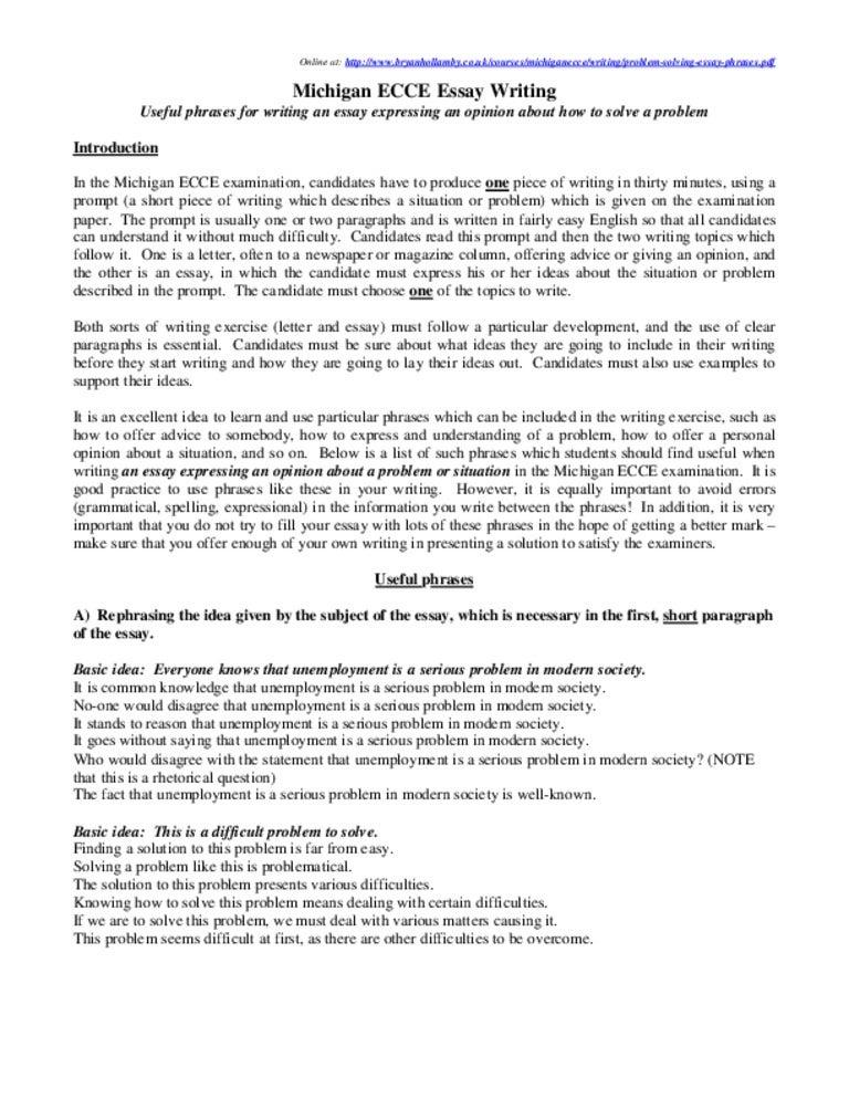 Application essay writing unemployment