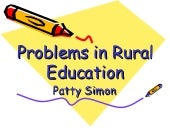 Problems In Rural Education