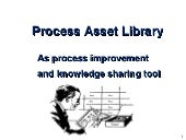 Process asset library as process im...