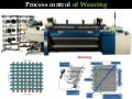 Process control of weaving process