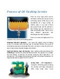 What is the process of the Oil Flushing Service?