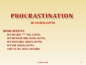 Procrastination By Aneek Gupta