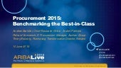 Procurement 2015: Benchmarking the Best-in-Class