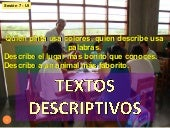Produccion textos descriptivos