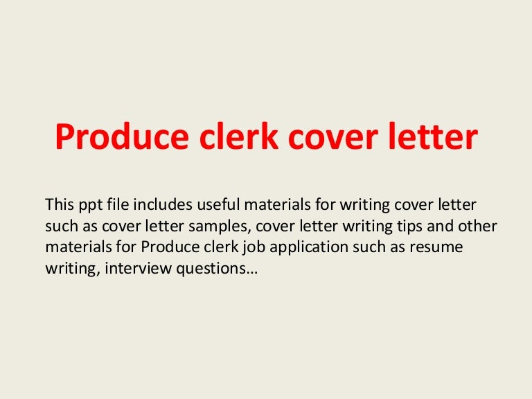 High Quality Warehouse Clerk Cover Letter